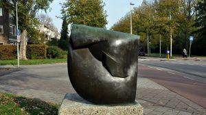 Bronsplastiek 'Schelpvorm'