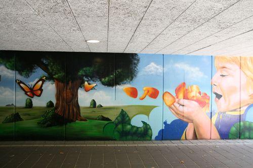 Muurschildering West