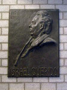 Bronsplaquette Israel Querido