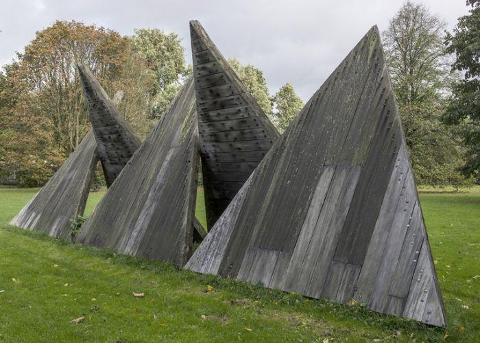 Houten driehoeken